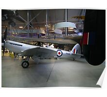 Spitfire F24 VN485'  former Hong Kong Auxiliary Air Force Poster