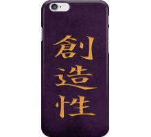Creativity Purple iPhone Case/Skin