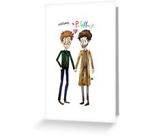 Welcome to PurGAYtory - Destiel Greeting Card