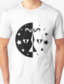 Libra - Black and White T-Shirt