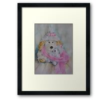 Winter soft toys  Framed Print