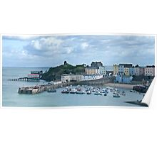 Tenby Harbour Pembrokeshire Panorama 2 Poster
