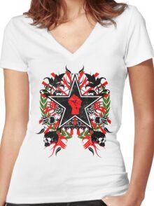 Revolution theme 2 Women's Fitted V-Neck T-Shirt