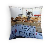 French Biscuits Throw Pillow