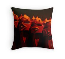 A Family of Four from Barcelona  Throw Pillow