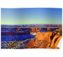 Snowy Canyonlands Poster