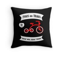 Tykes on Trikes Tricycle Gang (for kids and kids at heart) Throw Pillow