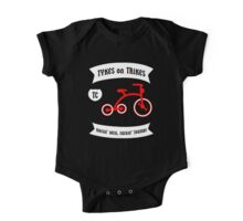 Tykes on Trikes Tricycle Gang (for kids and kids at heart) One Piece - Short Sleeve