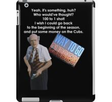 Back To The Future 2 Cubs Win World Series iPad Case/Skin