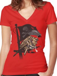 Captain Sparrow Women's Fitted V-Neck T-Shirt