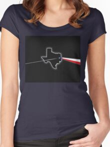Dark Side of Texas Women's Fitted Scoop T-Shirt