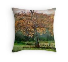 Tree in Autumn, Somerset, UK Throw Pillow
