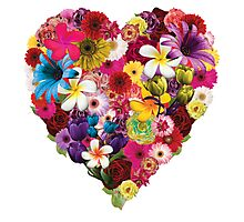 Flowered Heart Photographic Print