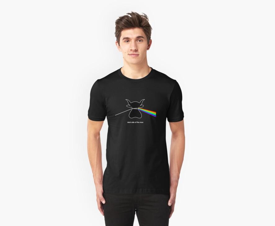 Dark Side of the Moo - T shirt by BlueShift