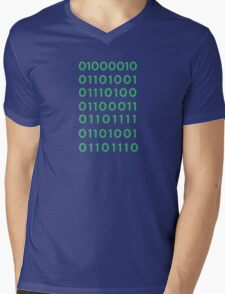 Binary Bitcoin Mens V-Neck T-Shirt