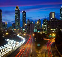 Atlanta Skyline by Inge Johnsson