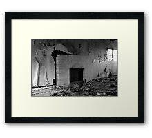 Stark Fireplace Framed Print