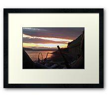 Alki Beach Sun Set Framed Print