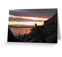 Alki Beach Sun Set Greeting Card