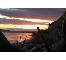 Alki Beach Sun Set Photographic Print