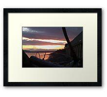Alki Beach Sunset  Framed Print