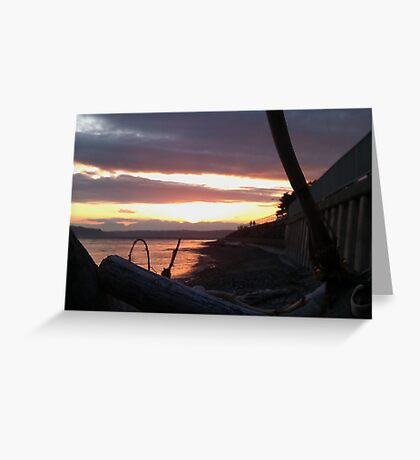 Alki Beach Sunset  Greeting Card