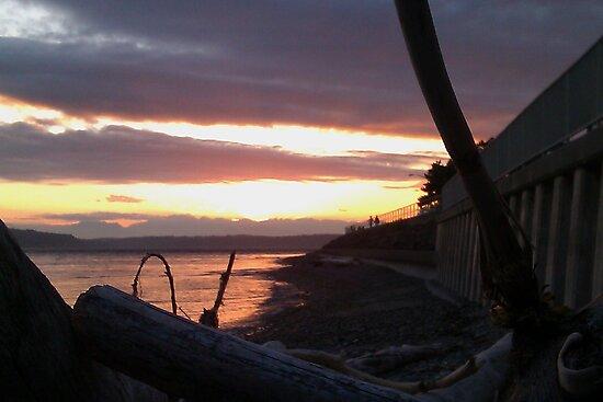 Alki Beach Sunset  by kylemeling