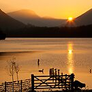 Sunset Over Derwent Lake, Keswick, Cumbria UK by Jan Fialkowski