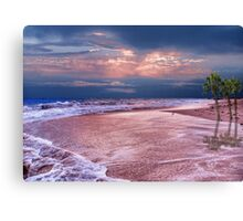 Tropical Beach Sunset Canvas Print