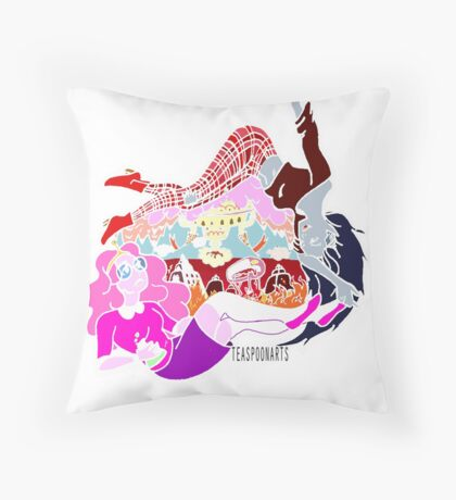 PB and Marcy-Caught Between Each Other's Worlds Throw Pillow