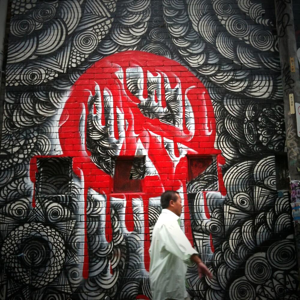 Peace Graffiti, May Lane, St Peters, Sydney by jphenfrey