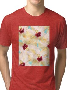 Hibiscus on Steroids #redbubble Tri-blend T-Shirt
