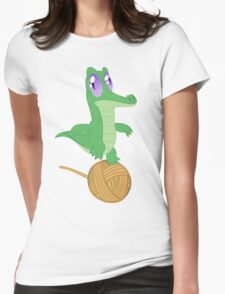 Fluttershy's Pet Alligator, Gummy! Womens Fitted T-Shirt