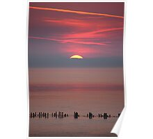 Allonby Sunset, Cumbria UK Poster