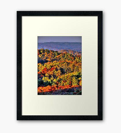 Mountain Fall Framed Print