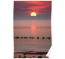 Allonby Sunset 3 Poster
