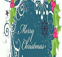 Merry Christmas iPhone 4/4S Skin by purplesensation