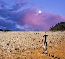 Sunrise -  Lake Ballard-(salt pan) in the northern goldfields (desert region) of Western Australian. An island minus the water. by Imagevixens