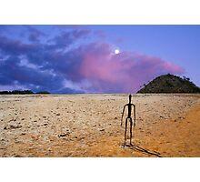 Sunrise -  Lake Ballard-(salt pan) in the northern goldfields (desert region) of Western Australian. An island minus the water. Photographic Print