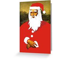 smiley santa Greeting Card