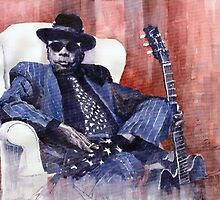 Jazz Bluesman John Lee Hooker 02 by Yuriy Shevchuk