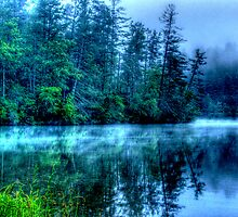 Hazy Morning on Lake Seed by Chelei