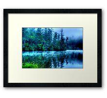 Hazy Morning on Lake Seed Framed Print