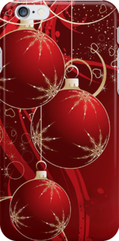Christmas iPhone 4/4S Case by purplesensation