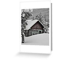 January - Frisco cabin. Greeting Card