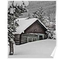 January - Frisco cabin. Poster