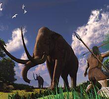 Mammoth Hunters by kenmo