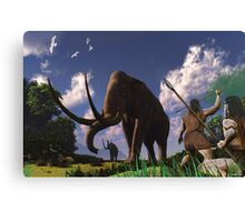 Mammoth Hunters Canvas Print