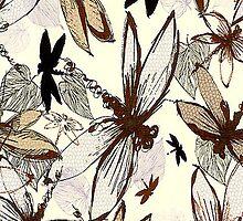 Dragonflies iPhone 4/4S Skin by purplesensation