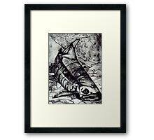 JET FISH Framed Print